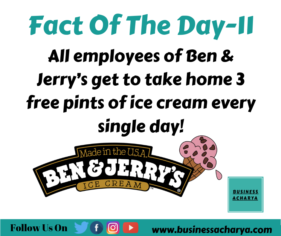 All employees of Ben & Jerry's get to take home 3 free pints of ice cream every single day!