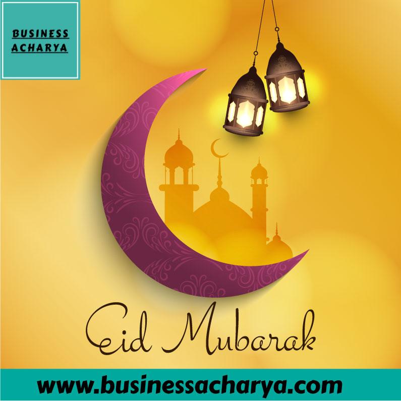 "Eid Mubarak From Business Acharya Team. <a href=""https://www.freepik.com/free-photos-vectors/abstract"">Abstract vector created by Creative_hat - www.freepik.com</a>"
